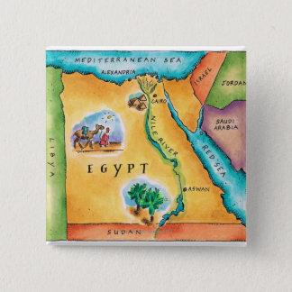 Badges Carte de l'Egypte