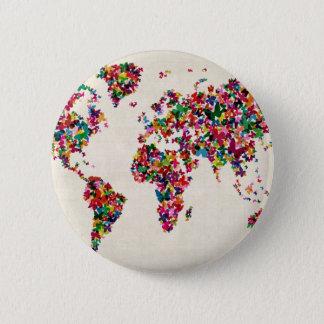 Badges Carte de papillons de la carte du monde