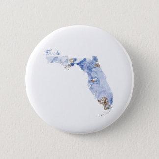 Badges Carte d'état de la Floride de bleu et d'or