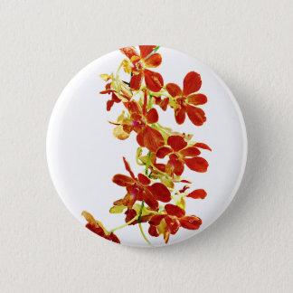 Badges Cascade d'orchidées oranges