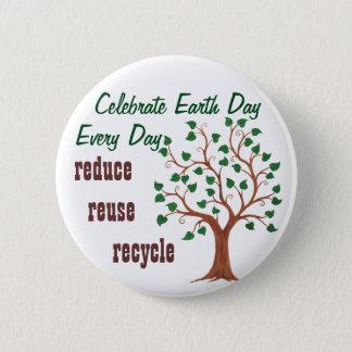 Badges Célébrez le jour de la terre - Pin personnalisable