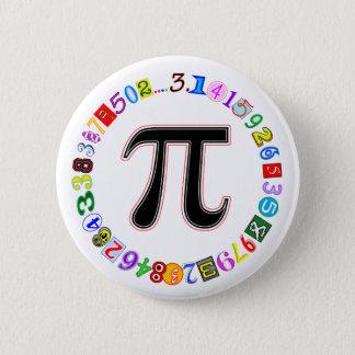 Badges Cercle coloré et d'amusement de pi calculé