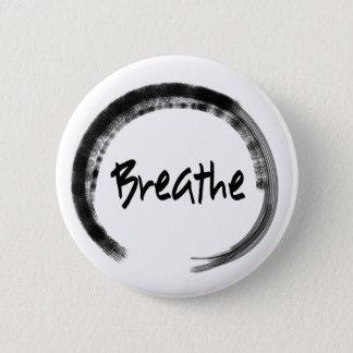 Badges Cercle de zen - respirez - boutons de Pin de yoga