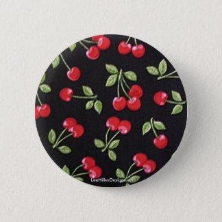Badges cerises rouges de rockabilly de billy de rab sur