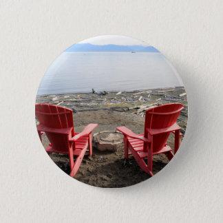 Badges chaises sur la plage