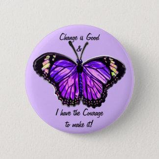 Badges Changez est bon (le bouton pourpre de papillon)
