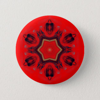 Badges Chant religieux rouge de médiation d'art de