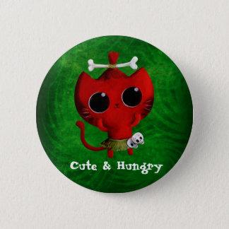 Badges Chat adorable de Halloween de cannibale