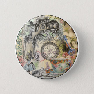 Badges Chat Alice de Cheshire au pays des merveilles
