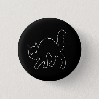 Badges Chat effrayant gothique de Halloween Kitty