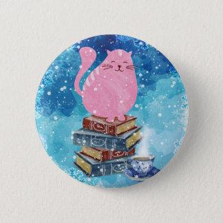 Badges Chat livresque en hiver