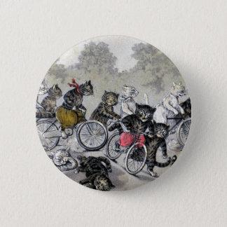 Badges Chats d'équitation de bicyclette