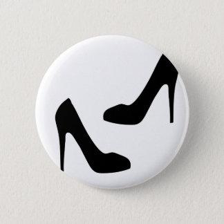 Badges Chaussures du talon haut des femmes en silhouette