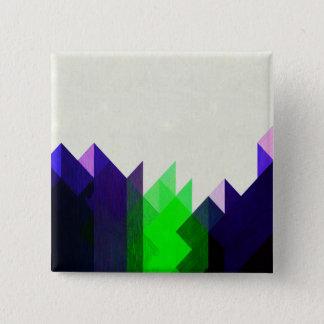 Badges Chaux et dessin géométrique bleu
