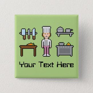 Badges Chef fait sur commande de femelle de pixel