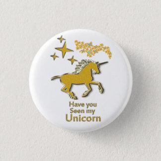 Badges Cheval de poney de licorne d'or avec les étoiles