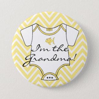 Badges Chevron jaune je suis la grand-maman !