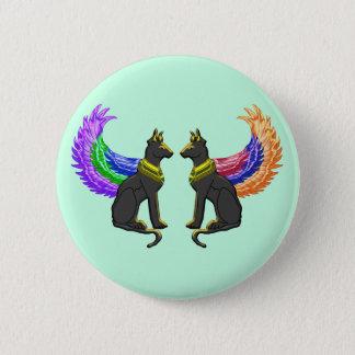 Badges chien égyptien avec des ailes