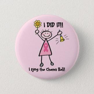 Badges Chimio Bell - cancer du sein rose de ruban