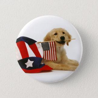 Badges Chiot d'or patriotique