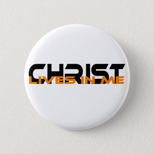 Badges Christ lives in me Noir Orange