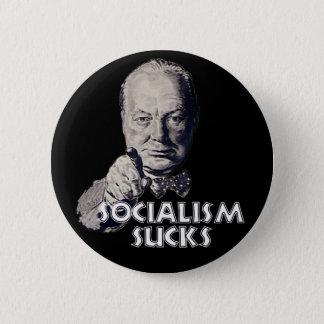 Badges Citation de Churchill : Le socialisme suce !