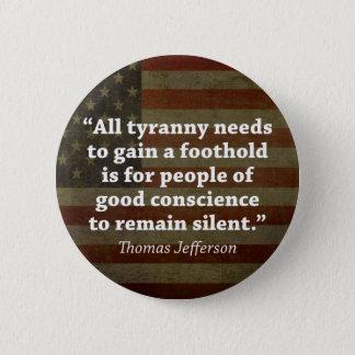 Badges Citation de Thomas Jefferson