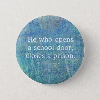 Badges Citation Victor Hugo d'enseignement de professeur