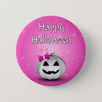 Badges Citrouille Girly Halloween - bouton