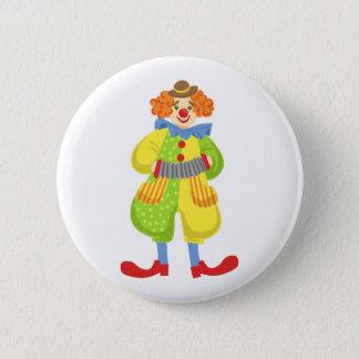 Badges Clown amical coloré jouant l'accordéon dans la