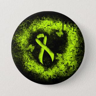 Badges Coeur de grunge de ruban de vert de chaux