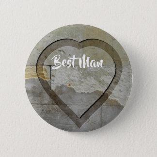 Badges Coeur en pierre de souvenirs de noce