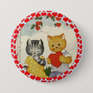 Badges Coeur mignon vintage de Valentine et couples de