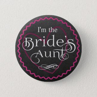 Badges Coeur rose de tableau épousant la tante de la