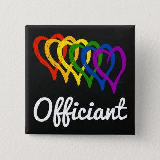 Badges Coeurs posés par mariage Officiant d'arc-en-ciel
