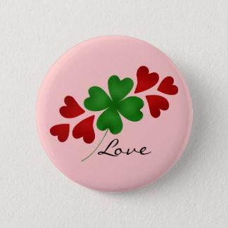 Badges Coeurs romantiques de shamrock du Jour de la Saint