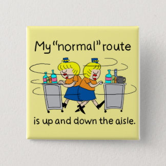 Badges | comique Jetlagged mon bouton normal de carré
