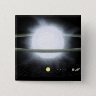 Badges Comparaison de la taille d'une étoile hypergiant