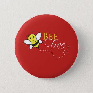 Badges Conception inspirée libre d'abeille