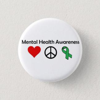 Badges Conscience de santé mentale - amour, paix,