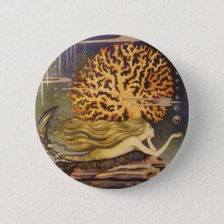 Badges Conte de fées vintage, petite sirène dans le