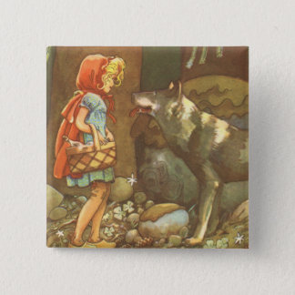 Badges Conte de fées vintage, peu de capuchon rouge