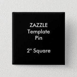 """Badges Copie faite sur commande 2"""" modèle vide carré de"""