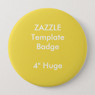 """Badges Copie faite sur commande 4"""" modèle rond énorme de"""