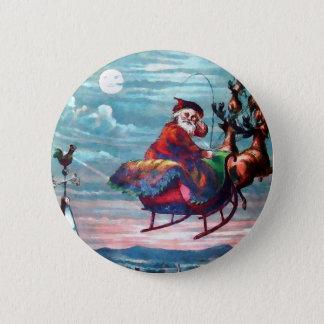 Badges Copie vintage de Père Noël Sleigh