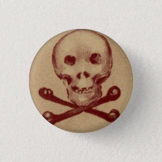 Badges Crâne et os croisés bouton rond de 1 pouce