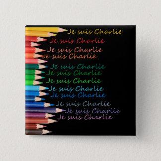 Badges Crayons d'arc-en-ciel de Je Suis Charlie