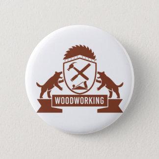 Badges Crête de travail du bois de diable tasmanien rétro