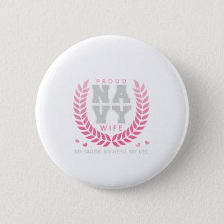 Badges Crête fière d'épouse de marine