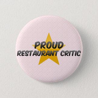 Badges Critique fier de restaurant